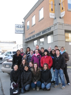 The first Homelessness at Home Team in 2010.