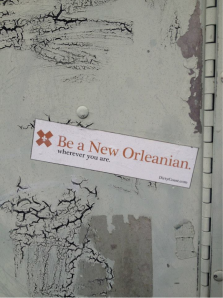 We noticed this sticker in several places in New Orleans.