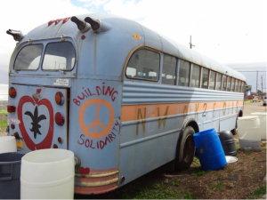 The famous New York to New Orleans bus at Our School at Blair Grocery in the Lower 9th Ward.
