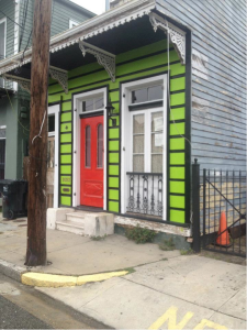 "A typical New Orleans ""shot-gun"" home."